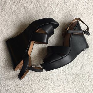 Abound Shoes - Black wedges